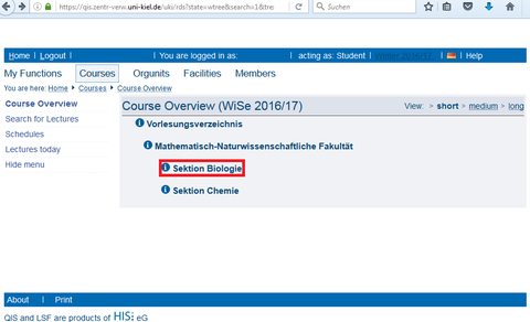 LSF courses overview